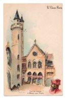 Illustrateurs Robida Albert Robida 020, Le Vieux Paris, Dos Non Divisé, Tour Du Louvre & Maison Aux Piliers - Robida