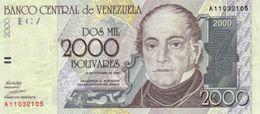 VENEZUELA 2000 BOLIVARES 1998 P-80a UNC  [VE080] - Venezuela