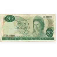 Billet, Nouvelle-Zélande, 20 Dollars, 1975, Undated (1975), KM:167c, TB - Nieuw-Zeeland