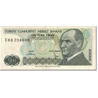 Billet, Turquie, 10 Lira, 1987, Old Date 1970-10-14, KM:193a, SUP+ - Turkije