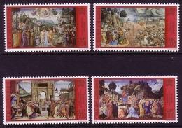 VATIKAN MI-NR. 1362-1365 ** RESTAURIERUNG SIXTINISCHE KAPELLE (II) - Vatican