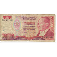 Billet, Turquie, 20,000 Lira, 1988-1997, Undated (1988-1997), KM:201, TB - Turkey