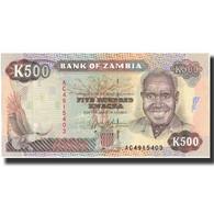 Zambie, 500 Kwacha, Undated (1991), KM:35a, NEUF - Zambia