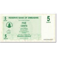 Billet, Zimbabwe, 5 Cents, 2006, 2006-08-01, KM:34, TTB+ - Zimbabwe