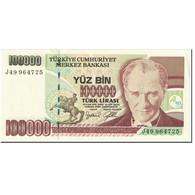 Billet, Turquie, 100,000 Lira, 2001, Old Date 1970-10-14, KM:206, NEUF - Turkey