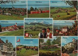 Gruss Aus Dem Appenzeller-Vorderland - Heiden, RHB Bahn, Speicher, Wolfhalden, Walzenhausen - AR Appenzell Rhodes-Extérieures