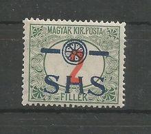 Yugoslavia Kingdom SHS Jugoslawien - Mi.Porto 28F With Wrong Type Overprint MNH / ** 1918 - Portomarken