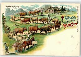 52421392 - Alpen-Aufzug Rind Pferd - Saluti Da.../ Gruss Aus...
