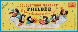 """BUVARD Pain D'Epices PHILBEE 21 DIJON - COUQUE """"VINGT TRANCHES"""" * Orchestre Musique Musiciens - Gingerbread"""
