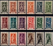 """French India 1948  """"Indian Deities""""  18v  Quality:100% - Indien (1892-1954)"""