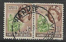 Southern Rhodesia WANKIE 25 APR 54 C.d.s. - Rhodésie Du Sud (...-1964)