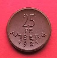 Allemagne.Monnaie/médaille Porcelaine (Münze Porzellan) Meissen- 25 Pfennig Ville D'Amberg 1921 - [11] Collections