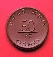 Allemagne.Monnaie/médaille Porcelaine (Münze Porzellan) Meissen - 50 Pfennig Bodixum Auf Föhr - [11] Collections