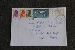 Lettre Recommandée De NEFFIES Vers BEZIERS - France