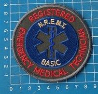 EMR N R E M T Emergency Medical Technician Basic Sew On Embroidery Patch - Patches