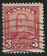 Canada, George V, 1928, 3c Lake,  Used - 1911-1935 Règne De George V