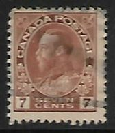 Canada, George V, 1924, 7c Red-brown,  Used - 1911-1935 Règne De George V