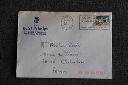 Timbre Sur Enveloppe Publicitaire Du PORTUGAL - LISBONNE, Hôtel PRINCIPE - Portugal