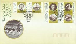 Australia 1998 Olympic Legends FDC - Ersttagsbelege (FDC)