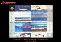ASIA. KIRGUISTÁN MINT. 2005 LAGOS DE KIRGUISTÁN. HOJA BLOQUE - Kyrgyzstan