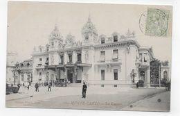 (RECTO / VERSO) MONTE CARLO EN 1906 - N° 100 - LE CASINO AVEC PERSONNAGES - TIMBRE ET CACHET DE MONACO - CPA VOYAGEE - Casino