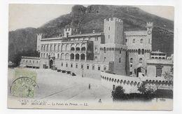 (RECTO / VERSO) MONTE CARLO EN 1913 - PALAIS PRINCIER - PLI EN HAUT A DROITE - TIMBRE ET CACHET DE MONACO - CPA VOYAGEE - Fürstenpalast