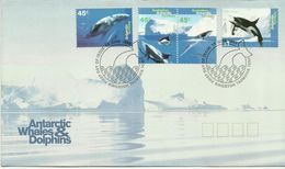 Australian Antarctic Territory 1995 Whales And Dolphons FDC - FDC