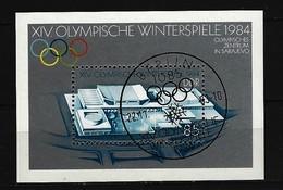 DDR - Block Mi-Nr. 74 - Olympische Winterspiele Sarajevo 1984 Ersttags-gestempelt - [6] República Democrática