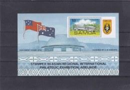 Samoa 1986 Stampex Souvenir Sheet MNH/** (H37) - American Samoa