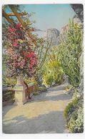 (RECTO / VERSO) MONACO EN 1945 - N° 5 - JARDIN EXOTIQUE - PLI ANGLE BAS A DR. - TIMBRE ET CACHET DE MONACO - CPA VOYAGEE - Exotic Garden