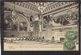 37170 . TOURS. HOTEL DE VILLE. SALLE DES MARIAGES. PANNEAU DE CORMON. ND . (recto/verso) . ANNEE  1907 . LALOUX  ARCHITE - Tours