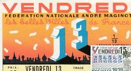 LOTERIE NATIONALE.. VENDREDI 13 MARS..1970 - Biglietti Della Lotteria