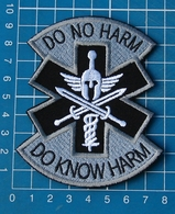 Patch Emergency Medical Technician PARAMEDIC EMT Spartan Sew Embroidery Gray - Patches