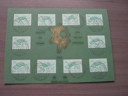 BELG.1970 1529 Mooie Grote Souvenircard Met Eerste Dag Stempels - FDC