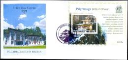 PILGRIMAGES SITES IN BHUTAN-TAKTSANG GOMPA-MS ON FDC-BHUTAN-LIMITED ISSUE-ABBHTC-1 - Bhutan