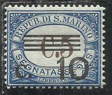 REPUBBLICA DI SAN MARINO 1940 SEGNATASSE POSTAGE DUE TAXES TASSE CENT.10 SU 5c MNH - Segnatasse