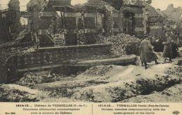 Militaria  1914 15  Chateau De VERMELLES  (P De C) Tranchées Allemandes Communiquant Avec Le Sous-sol Du Chateau RV - Other Municipalities