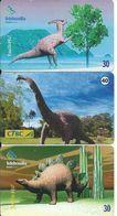 3 Télécartes Brésil Dinausore Dinossauro (D 299) - Brésil