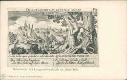 AK Hohenstein Taunus Bei Langenschwalbach Im Jahre 1630, Um 1910 (29153) - Andere