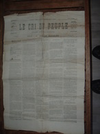 JOURNAUX  Journal  Le Cri Du Peuple Commune De Paris N54  24 Avril 1871 Original 2scans - Journaux - Quotidiens