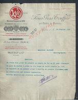 LETTRE COMMERCIALE ILLUSTRÉE DE 1918 HOTTOT & Cie FOIES GRAS TRUFFÉS  TRUFFE EN PATÉS & PURÉS À PARIS RUE St HONORÉ :  : - 1900 – 1949