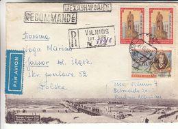 Russie - Lituanie - Lettre Recom Illustrée De 1960 - Oblit Vilnius - Exp Vers Jouvor - Cachet De Jawor ? - 1923-1991 URSS