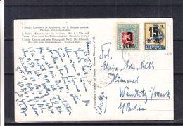 Lituanie - Carte Postale De 1924 - Surcharge Déplacée ! - Vue De Kaunas - Lithuania