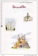 """"""" CAPITALES EUROPEENNES : BRUXELLES """" Sur Document Philatélique Officiel De 2007 De 4 Pages N° YT BF 111. DPO - Belgium"""
