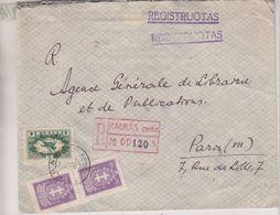 Lituanie - Lettre Recom Illustrée De 1931 ° - Oblit Kaunas - Exp Vers Paris - - Lithuania