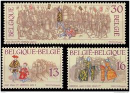 Belgium 2552/54**  Histoire  MNH - Belgique