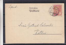 Lituanie - Carte Postale De 1936 - Oblit Plikiai - Exp Vers Kalkai - Litauen