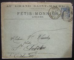 1900 Angers Au Grand Saint Maurice Chaussures Fétis-Monnier Avec Daguin, Pour Saint  Angeau (Charentes) - 1877-1920: Période Semi Moderne
