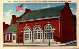 Andrew Johnson Memorial, Housing His Original Tailor Shop, Greenville, Tenn. - Etats-Unis