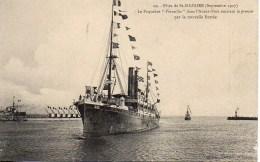 """44 St-NAZAIRE Fêtes De Septembre 1909 : Le Paquebot """"Versailles"""" Dans L'avant Port - Saint Nazaire"""